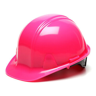 Pink Hard Hat Pyramex Hp14170 4-point With Ratchet Suspension Safety Cap Style
