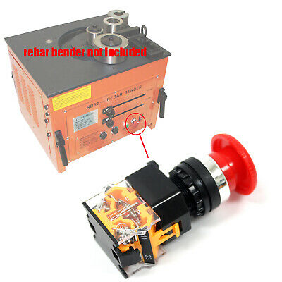 Red Emergency Stop Button Push Switch 1no1nc 440v 10a For Rebar Bender Rb32
