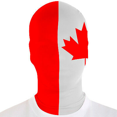 Real Morphsuit Canada Flag Canadian Face Mask M-Suit Adult Costume - Morphsuit Mask
