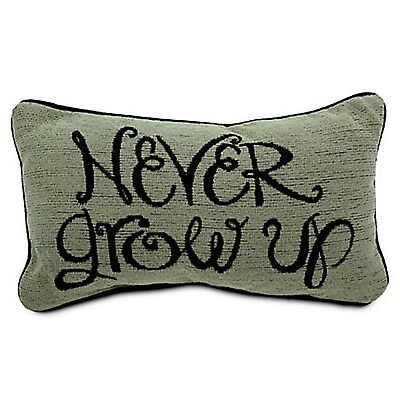 Never Grow Up Peter Pan Throw Pillow Disney World Theme Parks NEW