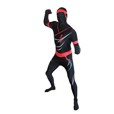 Ninja Morphsuit Fancy Dress Costume for Party Festival Halloween Stag Do Warrior