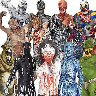 Monster Kinder Morphsuit Karneval Kostüm ZOMBIE CLOWN ANDROID SKELETT JEFF (Morphsuit Kostüm Kinder)