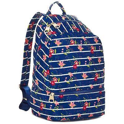 Hallmark : Mark & Hall ~ Navy Floral Stripe ~ Nylon ~ Backpack ~ New