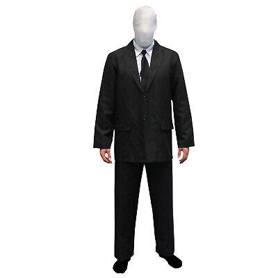 Slenderman Kostüm  + Maske Herren Karneval Fasching - Slenderman Morphsuits