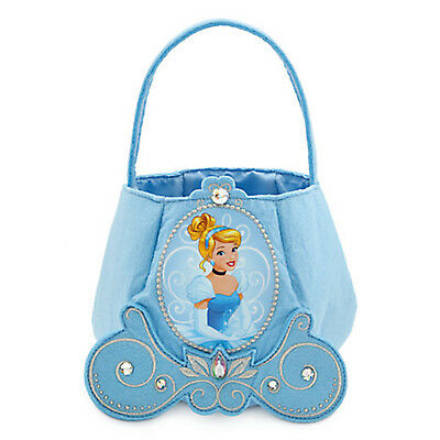 Trick Or Treat Halloween Store (Disney Store Cinderella Trick-or-Treat Bag Felt Princess Blue Halloween)