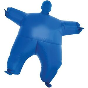 Blue inflatable Halloween costume