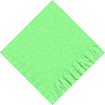 50 Plain Solid Colors Luncheon Dinner Napkins Paper - Fresh Mint