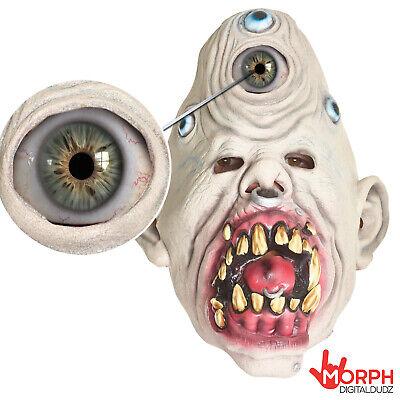 Moving Halloween Masks (Cheap Digital Dudz Animated Latex Cyclops Mask Scary Halloween Masks Moving)