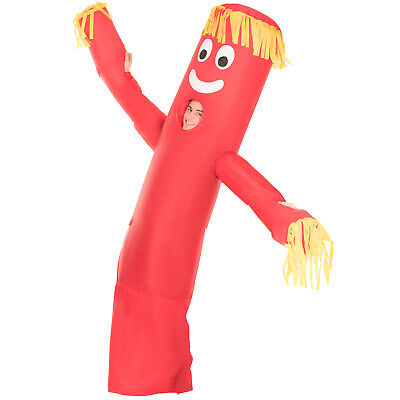 red wavy arm guy inflatable costume adult