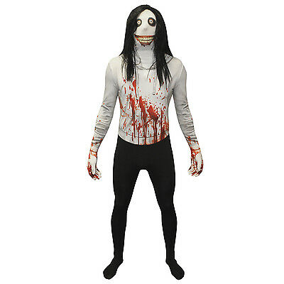 Morphsuit Jeff the Killer Halloween Fancy Dress Costume incl Wig Urban Legends ](Costume Jeff The Killer)