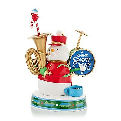 - One Snowman Band 2013 Hallmark Ornament  God Rest Ye Merry Gentlemen  Tuba Drums