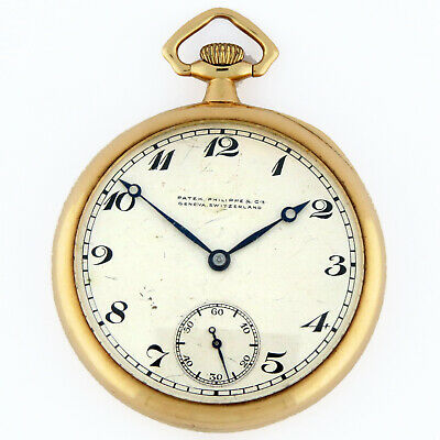 Patek Philippe 18K Gold Mustache Lever Snail Regulator OF Pocket Watch 44.5mm