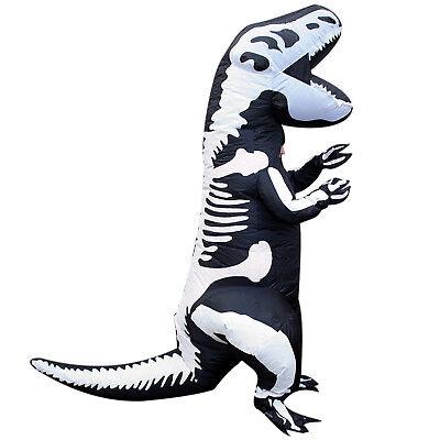 SALE Inflatable Skeleton Dinosaur Costume WITH DEFECT Halloween Fancy Dress - Dinosaur Skeleton Costume