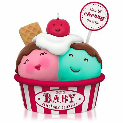Hallmark New Parents' Baby Makes Three Ice Cream Ornament ()