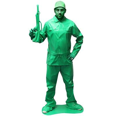 Mens Toy Soldier Fancy Dress Costume Military Army Outfit Saving Private Morph ](Army Outfit Men)
