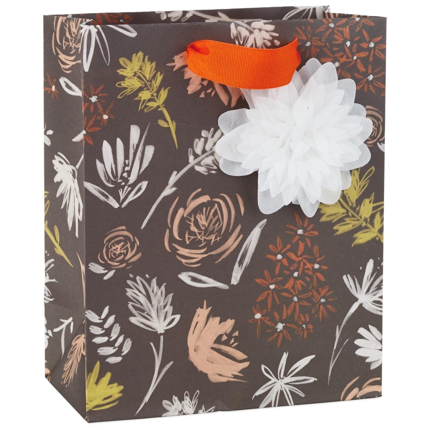 Hallmark Floral Chalked Medium Gift Bag