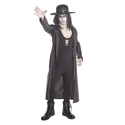 Licenced WWE The Undertaker Wrestler Fancy Dress Costume Adult Wrestling - Undertaker Kostüm
