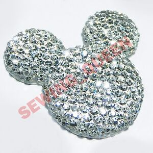 30MM-10-pcs-BLING-MICKEY-DIY-RESIN-PLASTIC-FLATBACK-SHELL-PHONE-DECO-CRAFTS-BOWS