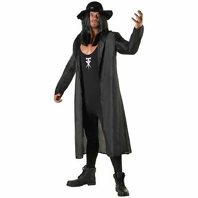 Wwe The Undertaker Costume (Licenced WWE The Undertaker Wrestler Fancy Dress Costume + Hat Adult)