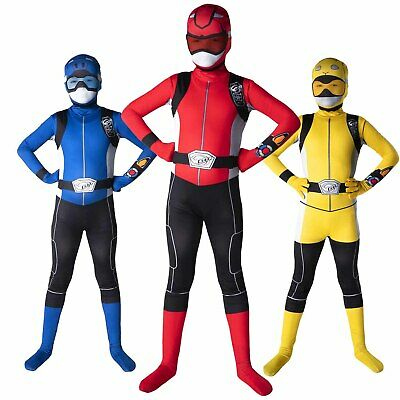 Kids Power Rangers Beast Morphers Costume Boys Girls Superhero Morphsuits - Powerranger Kostüm