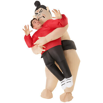 Sumo Wrestler Inflatable Pick Me Up Costume Adult Funny Fat Suit Fancy Dress NEW](Inflatable Sumo Wrestler Costume)