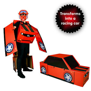 Transforming Morphmobile Robot and Car Fancy Dress Costume Funny Outfit One Size  sc 1 st  eBay & Robot Costume | eBay