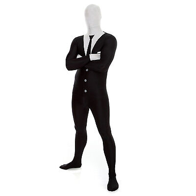 Morphsuit   Businessman Or Slenderman Adult Slender Man Costume