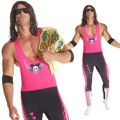 Bret Hart Costume (Licenced WWE Bret `The Hitman` Hart Wrestler Fancy Dress Costume Adult)