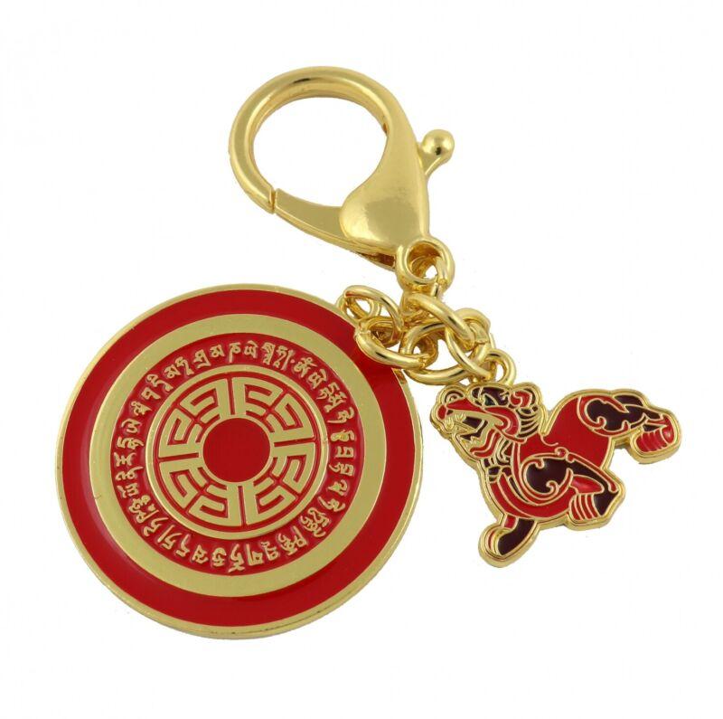 Feng Shui Dakini Wealth Pi Yao Amulet Keychain