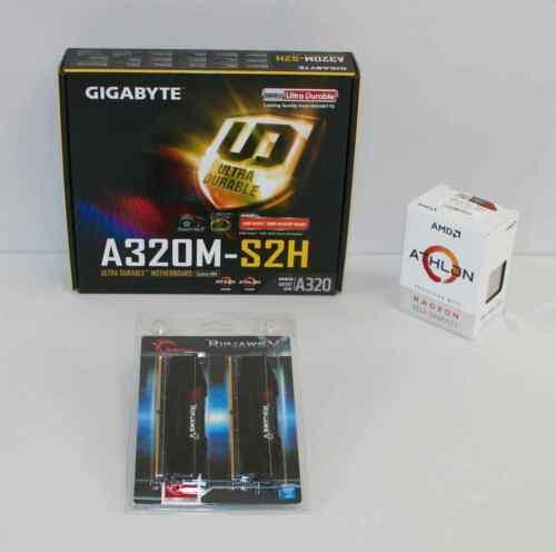 AMD Athlon 3000G & Gigabyte 0A320M-S2H mATX Motherboard & 8GB RAM BUILD COMBO