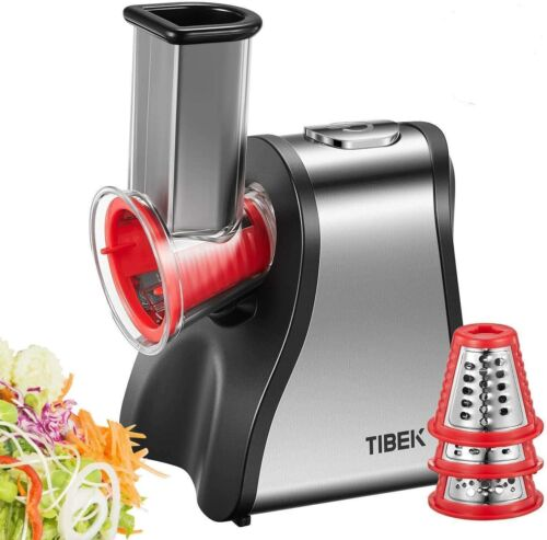 TIBEK Electric Slicer Grater, Electric Cheese Grater for Home Kitchen Use GS-907