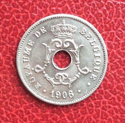 Belgique - Léopold II -  Superbe  10  Centimes 1906 FR  - variété du double 6