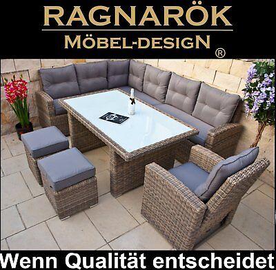 ... POLY RATTAN GARTENMÖBEL Hohe Dinning Lounge Ragnarök Möbeldesign  Esstisch ...