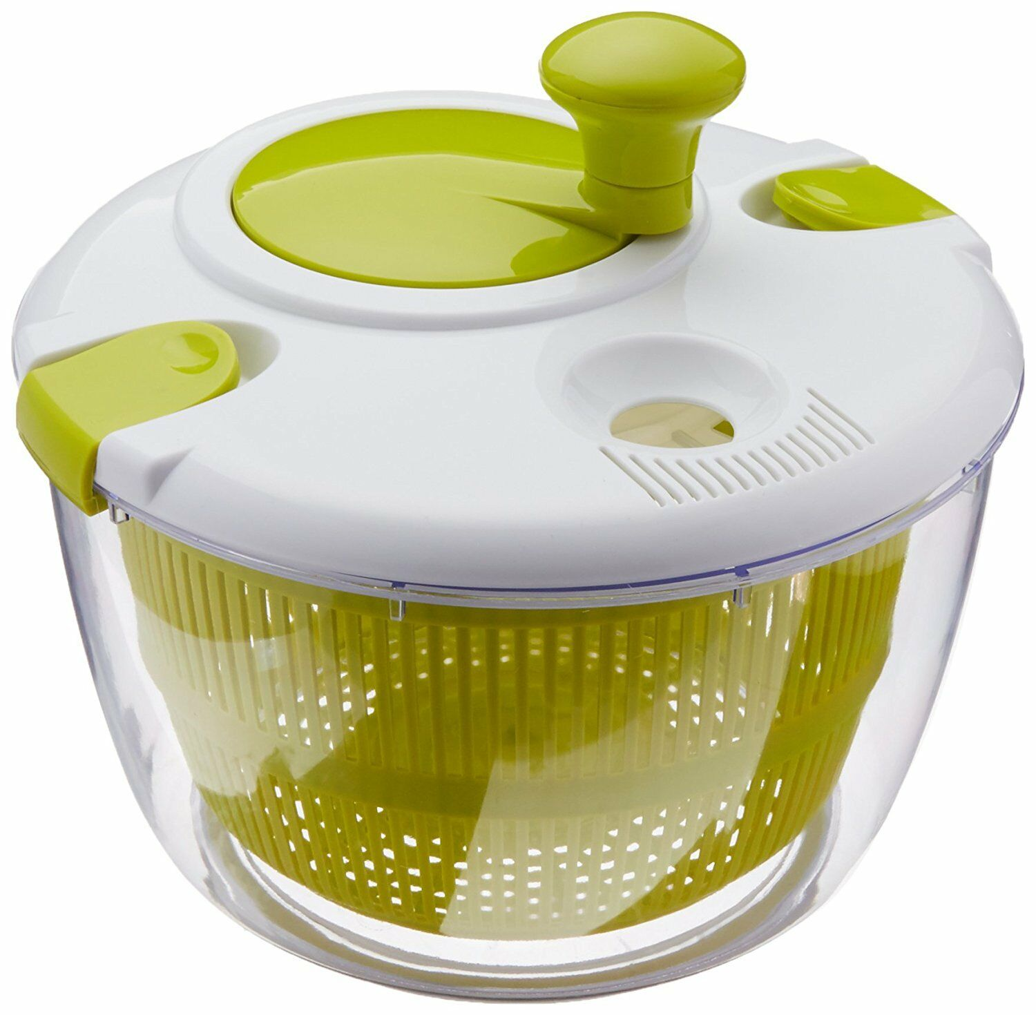 4 Qt Deluxe Salad Spinner Bowl Locking Lid