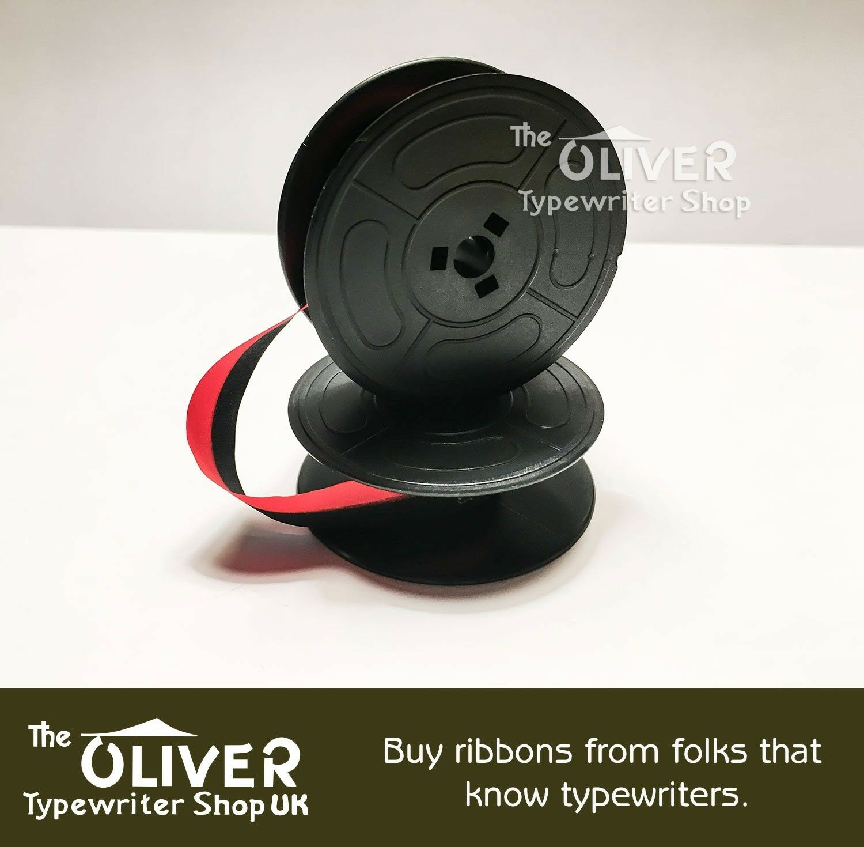 2 x OLIVETTI LETTERA 25 *BLACK//RED* TOP QUALITY *10M* TYPEWRITER RIBBON+EYELETS