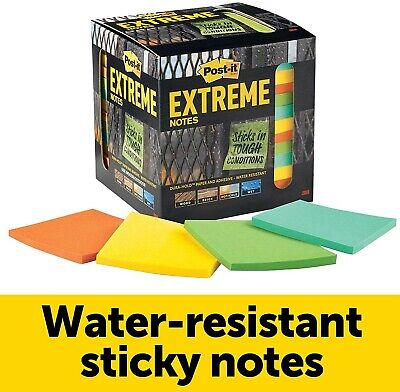 Post-it Extreme Water-resistant Notes Assorted Color 12 Pads