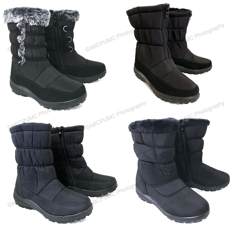 Women's Winter Boots Fur Lined Insulated Waterproof Zipper S