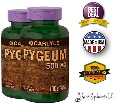 PYGEUM AFRICANUM BARK 500 mg 200 Capsules  High Potency Extract Support Prostate