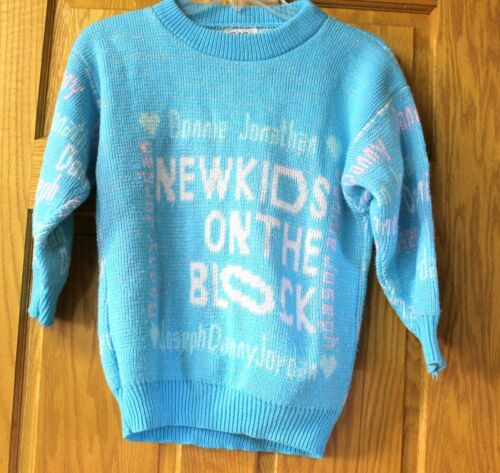 Vintage New Kids on the Block Blue Sweater Boy Band NKOTB