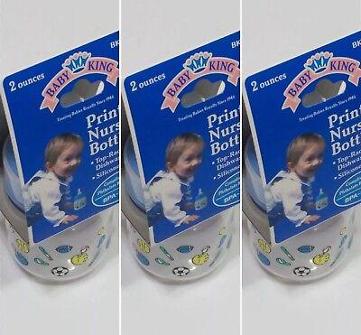 SALE!! 3 pack of NEW 2oz (60ml) Preemie Baby Bottles w/Silicone Preemie Nipples (3 Pack Silicone Bottles)