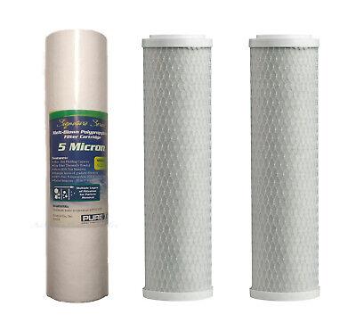 3 Reverse Osmosis Water Filter 2 Carbon Block 1 Sediment 5 Micron Replacement RO 5 Micron Carbon Block Filter