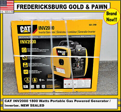 Cat Inv2000 1800 Watts Portable Gas Powered Generator Inverter. New Sealed