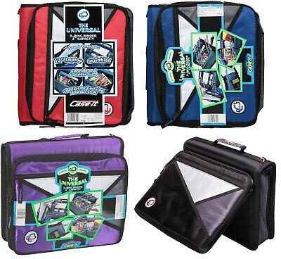 Case-it 2 Zipper Binder 13 Laptop School Organizer Lt-207 Black Blue Purple