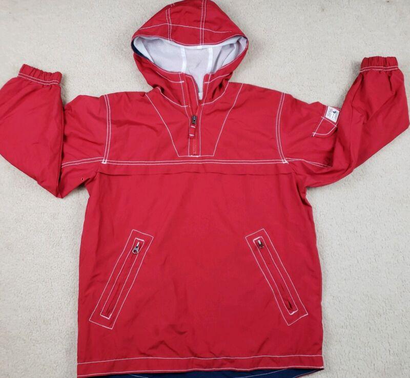 Gap Kids Size XL 12 Windbreaker Hooded Pullover Jacket  Red Lightweight