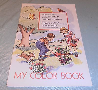 VINTAGE 1946 METROPOLITAN LIFE INSURANCE COLORING BOOK