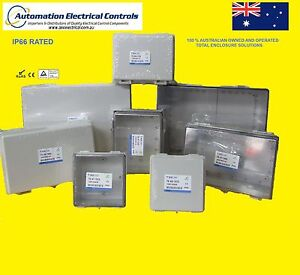 POLYCARBONATE-ELECTRICAL-BOX-ENCLOSURE-CLEAR-HINGED-LID-150x150x90TEAT1515-IP66