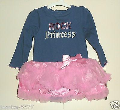 Baby Glam Infant Girls Tutu Dress Blue/pink (rock Princess)