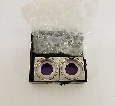 Lot Of 2 Laser Components 102354256 Plane Convex Lense 532 Nm In Square Holder