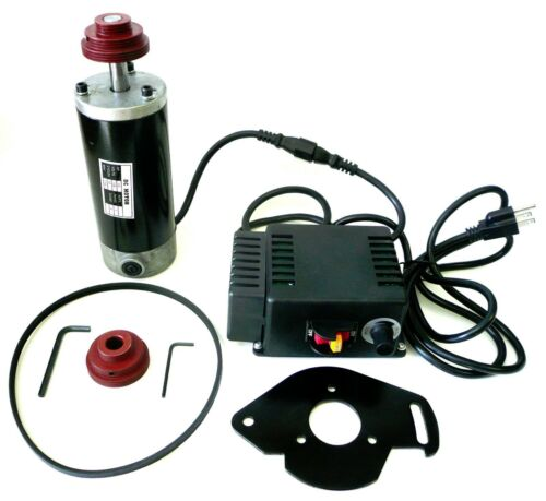 3/4 HP Variable Speed Drive Kit: Motor Control Pulleys Belt 750-5415 RPM New