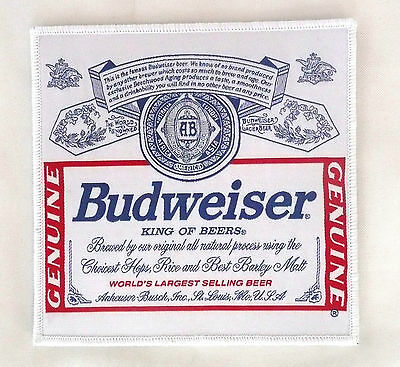 Budweiser Beer Red/White/Blue 5 1/2 in. x 5 1/2 in. Patch  NEW